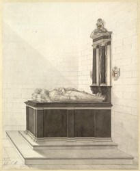 [Tomb monument to Abraham Blackleech and his wife Gertrude at] Gloucester Cathedral